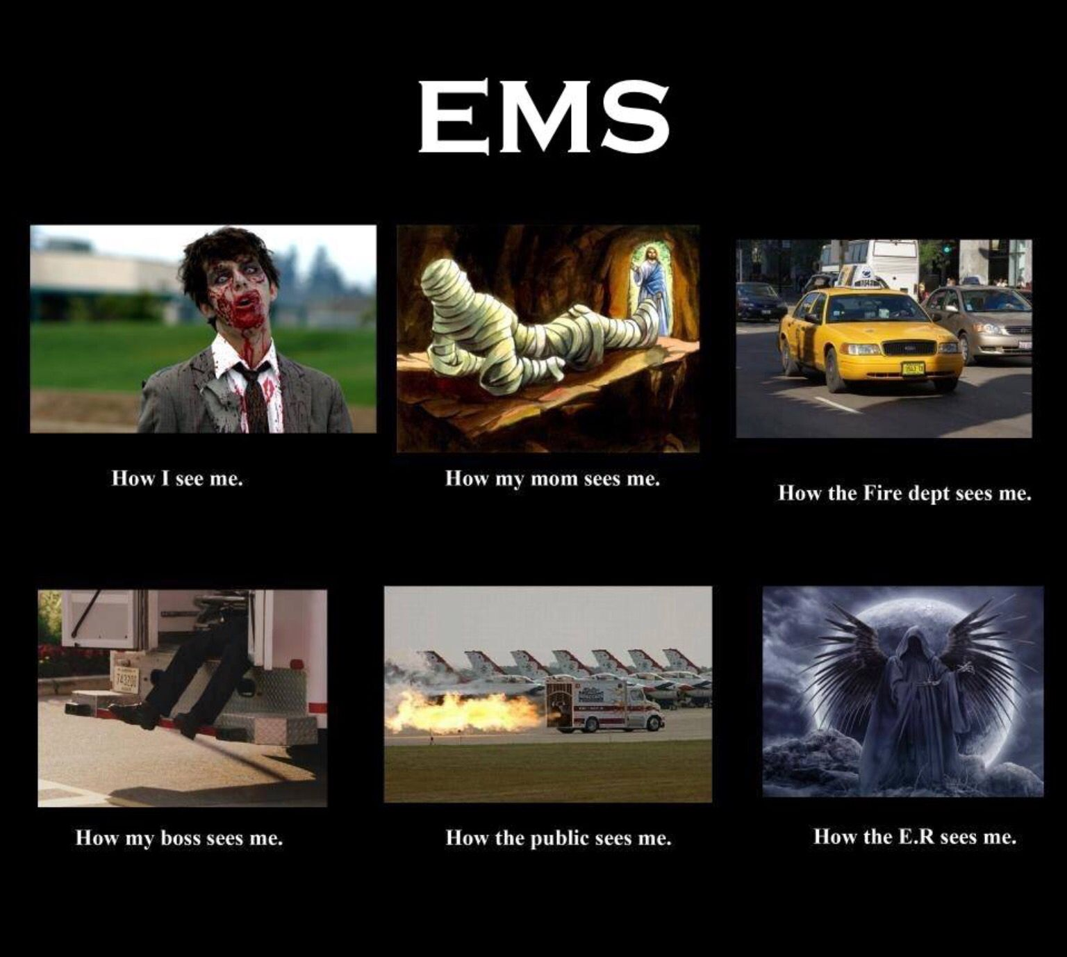 Pin by Carrie Neville on EMS Emt humor, Paramedic humor
