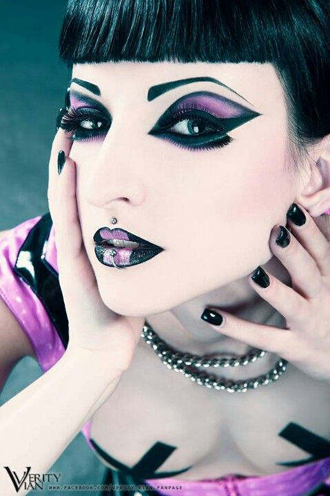 Verity Vian. Totally amazing cyber goth make up and model.