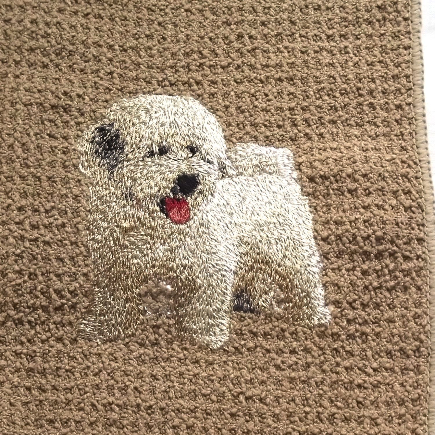 Havanese Dog Embroidered Tea /Dish Towel by CraftEmbroideryuk on Etsy