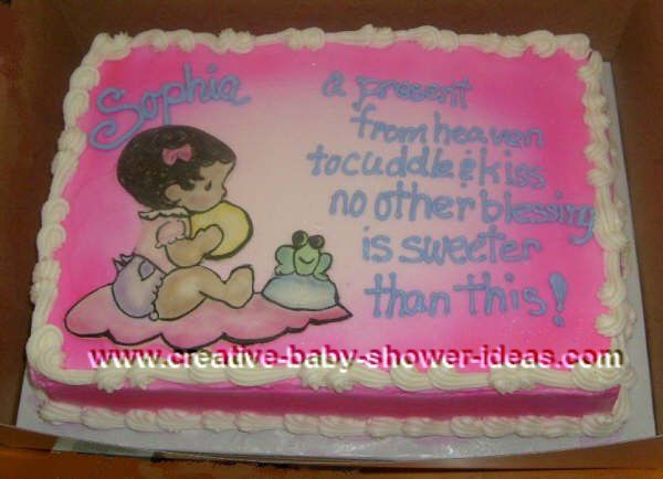 Exceptional Baby Shower Sheet Cakes | You Are Here: Home » Edible Cake Index » Baby