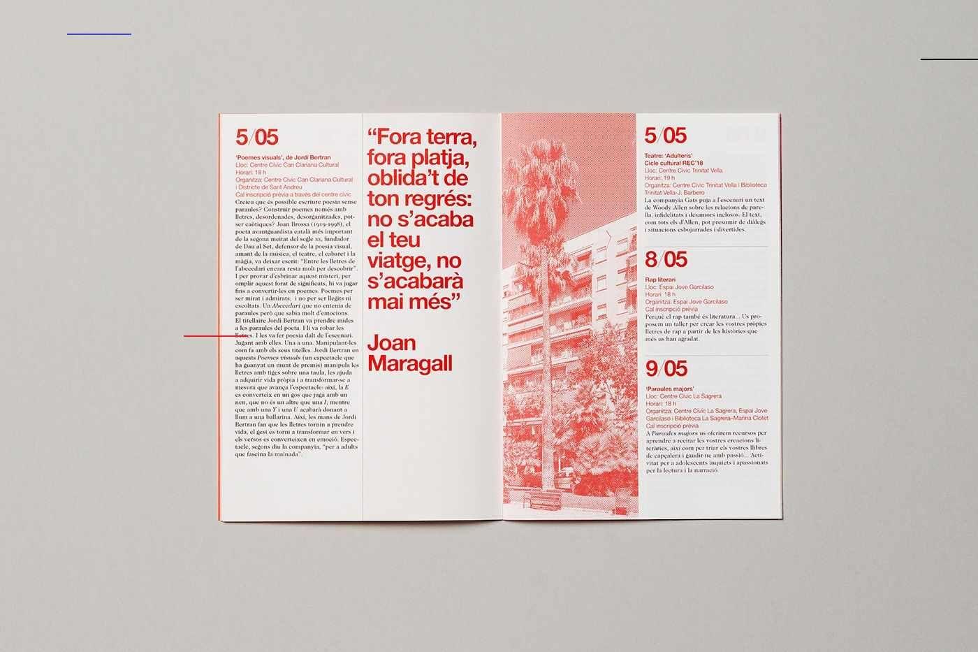 Calidoscopi Cultural 2018 Editoriallayout Broschurendesign Buch Design Broschure Design