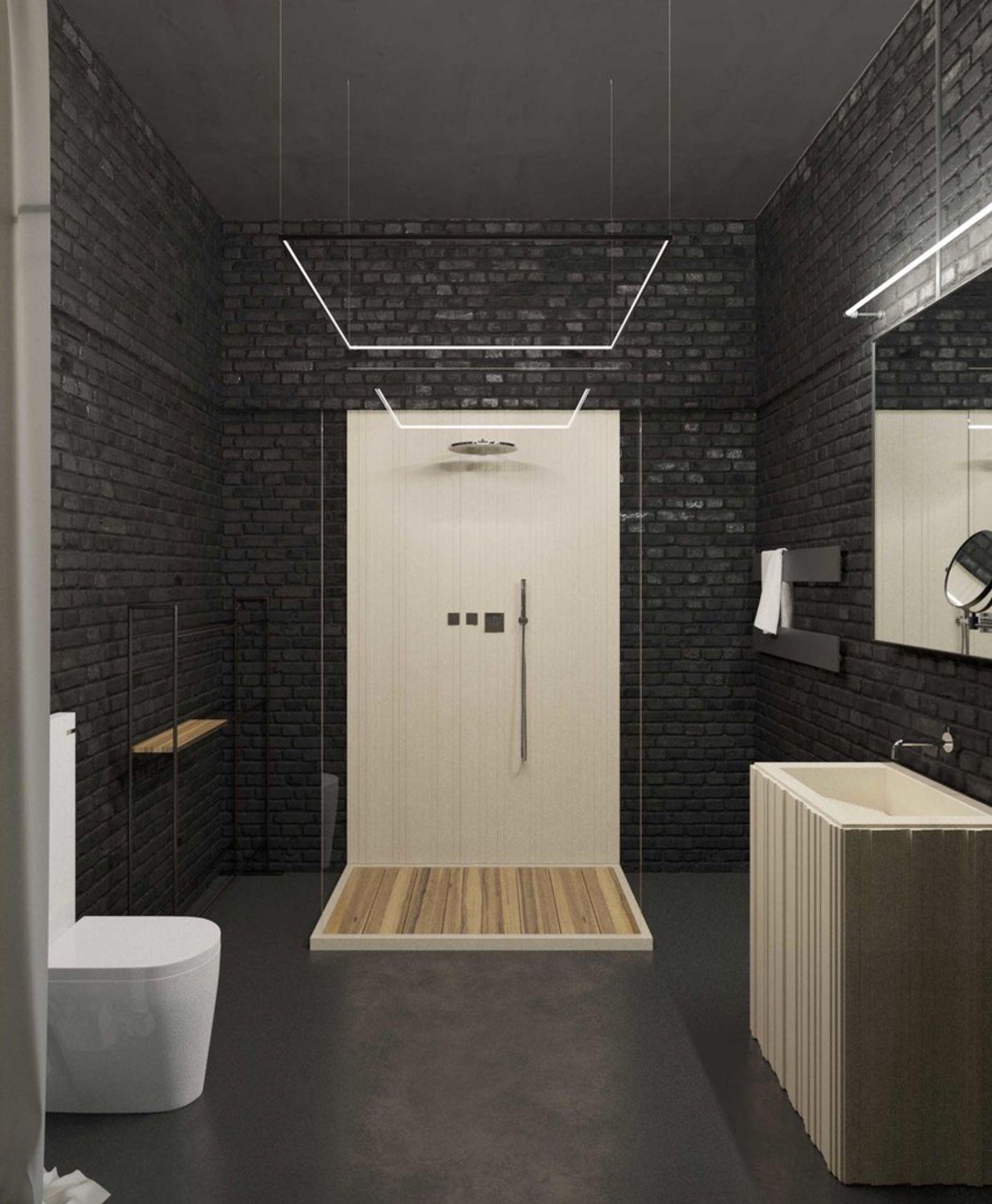 Дизайн проекта лофт в клубном доме DEPRE LOFT. #Depreloft #design #brickwall #interiors #bathroom #loft #outoftime #интерьерлофта #studio211 #НашиПроектыStudio211