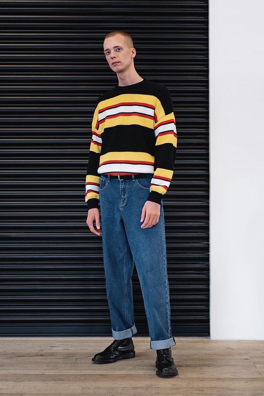 Shop für authentische populärer Stil an vorderster Front der Zeit Striped jumper and denim. Keywords: fall winter menswear ...