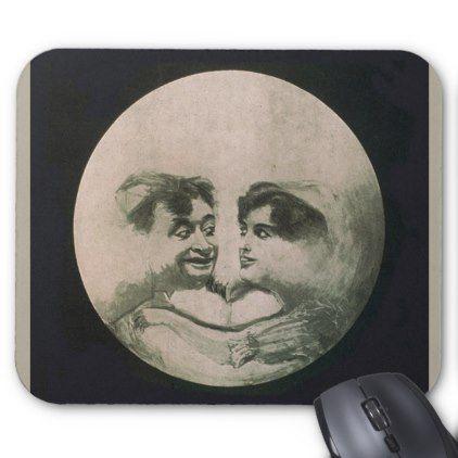 moon optical illusion so fun mouse pad