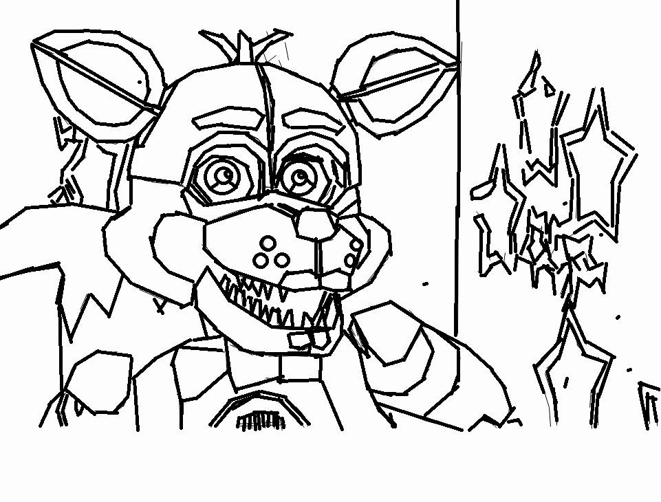 28 Funtime Foxy Coloring Page in 2020 Fnaf coloring