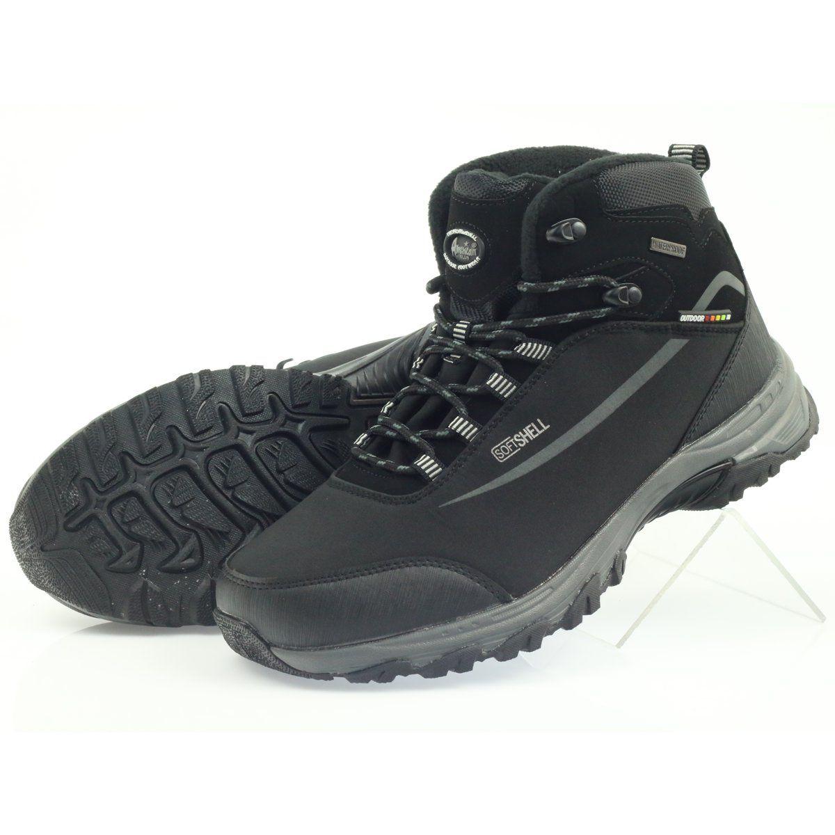 American Club American Trekkingi Buty Zimowe Z Membrana Czarne Boots Hiking Boots Mens Fashion