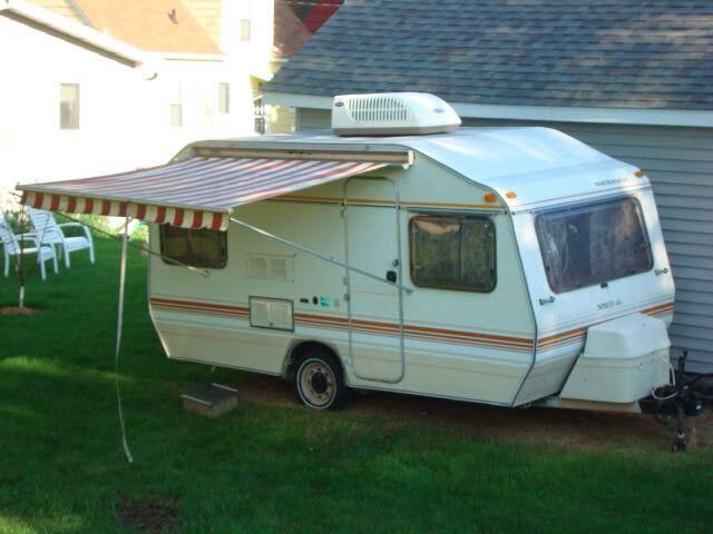 Mid 1980 S Sprite Alpine Forward Door Location Sweet Awning Caravan Renovation Caravan Travels Vintage Trailers