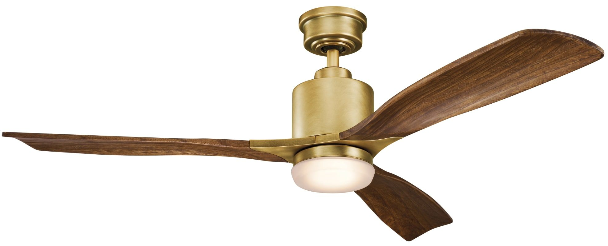 Kichler 300027nbr Natural Brass Ridley Ii 52 Ceiling Fan With Blades Led Light Kit And Wall Control In 2020 Ceiling Fan Ceiling Fan With Light Stainless Steel Ceiling Fan
