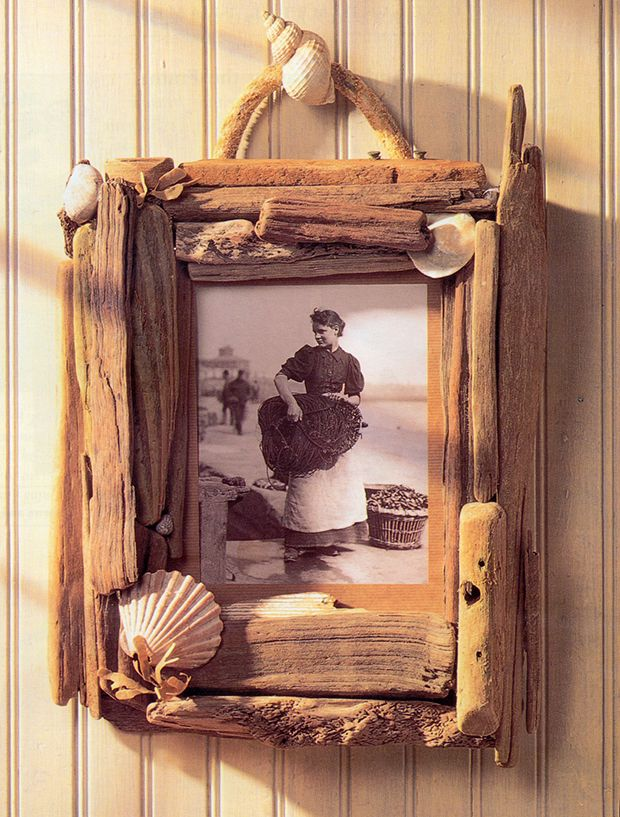 Driftwood and Shells Frame by Sarah Parish from my book \'Decorative ...