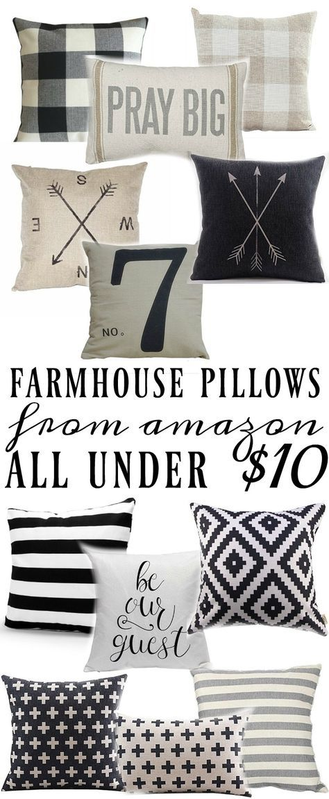 Farmhouse Style Pillows All Under 40 Pinterest Farmhouse Style Custom Cheap Decorative Pillows Under 10