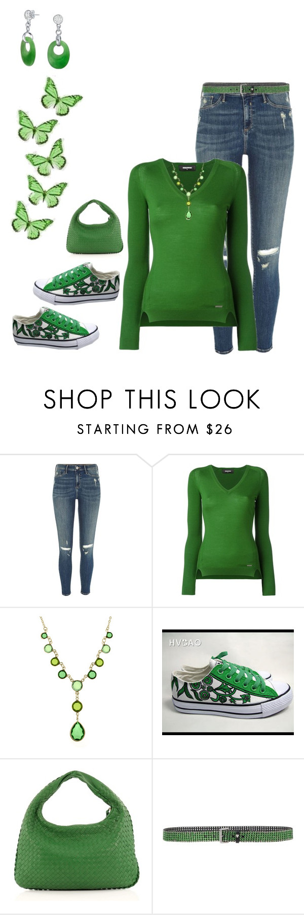 """""""Green"""" by smith-1979 ❤ liked on Polyvore featuring River Island, Dsquared2, HVBAO, Bottega Veneta and HTC"""