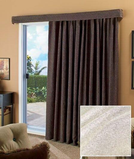 Ivory 140 Patio Curtain Large Sliding Door Curtains Wide Drape Lose