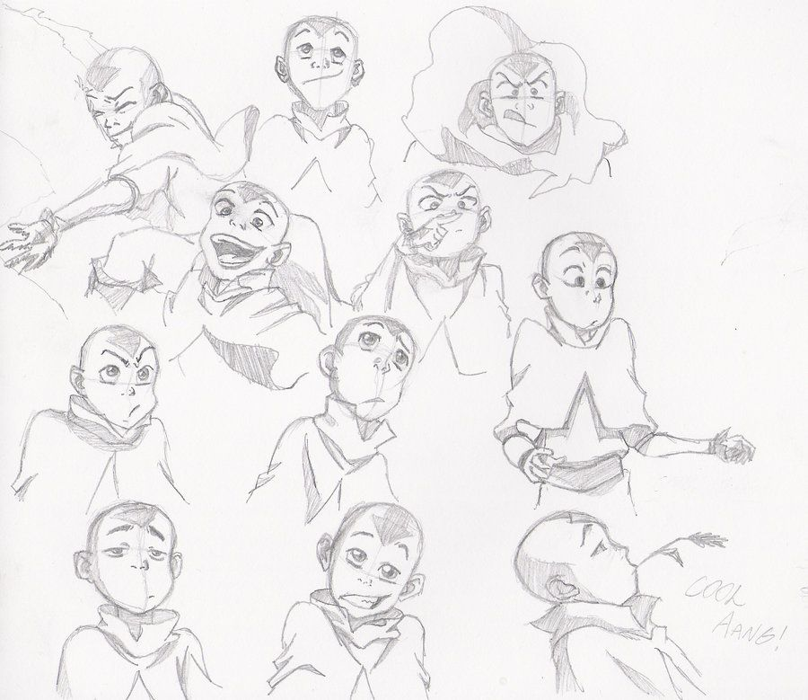 Aang Concepts By Moptop4000deviantartcom On At Deviantart Avatar