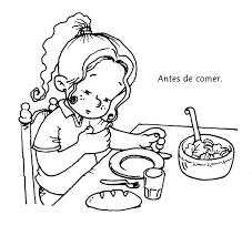 Resultado De Imagen Para Niños Comiendo Para Colorear Dibus