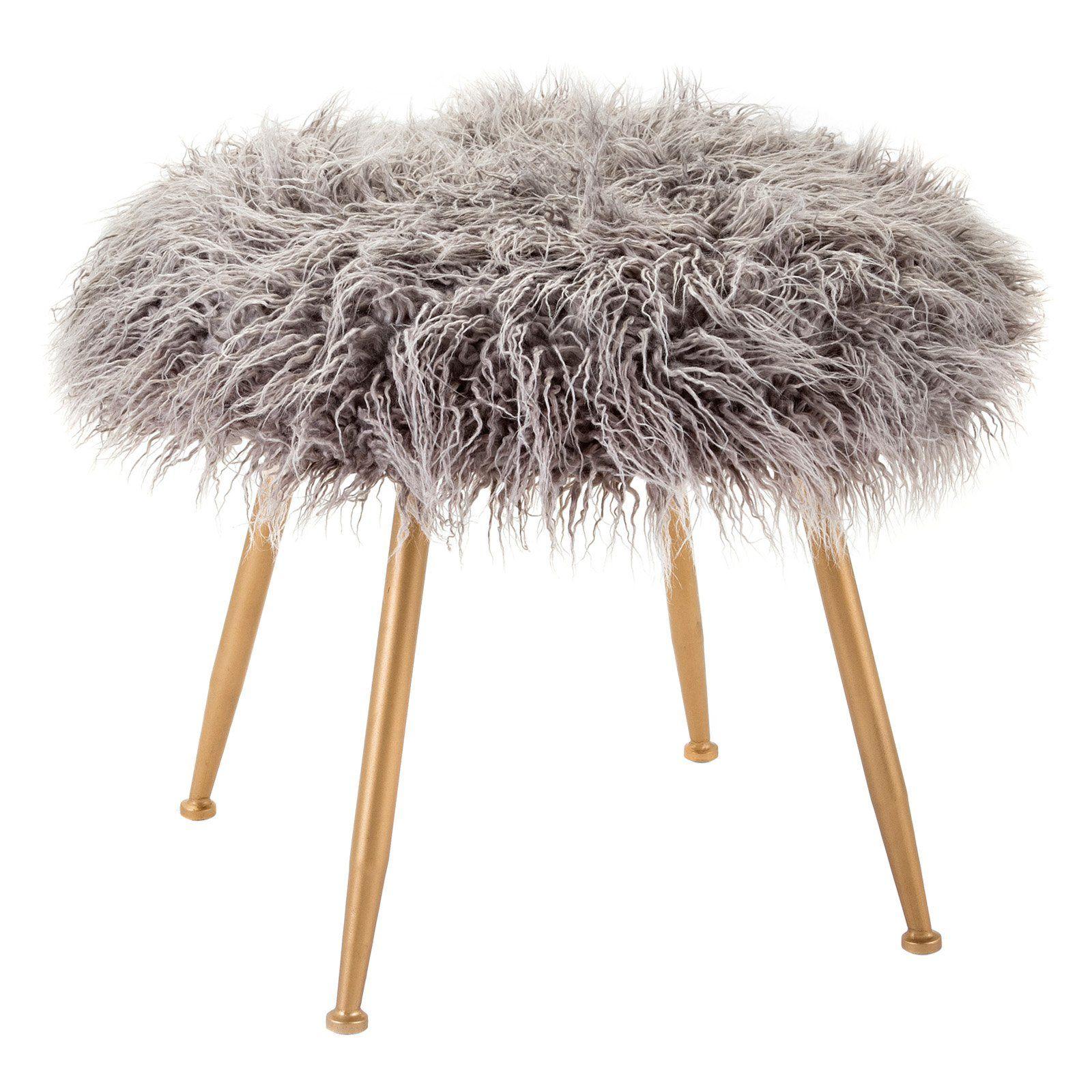 Imax Vadden Fuzzy Stool Fuzzy stool, Stool, Imax