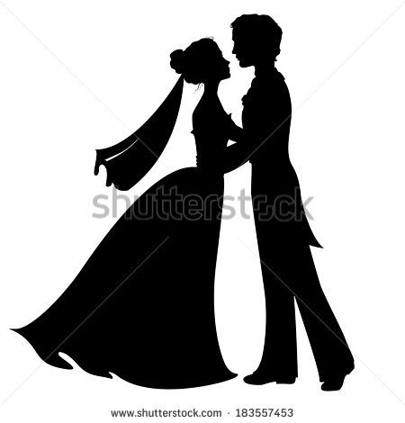 Bride And Groom Silhouette Stock Illustrations & Cartoons | Shutterstock