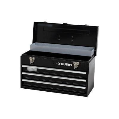 Husky 20 In 3 Drawer Small Metal Portable Tool Box With Drawers And Tray Tb 303b The Home Depot Portable Tools Tool Chest Portable Tool Box