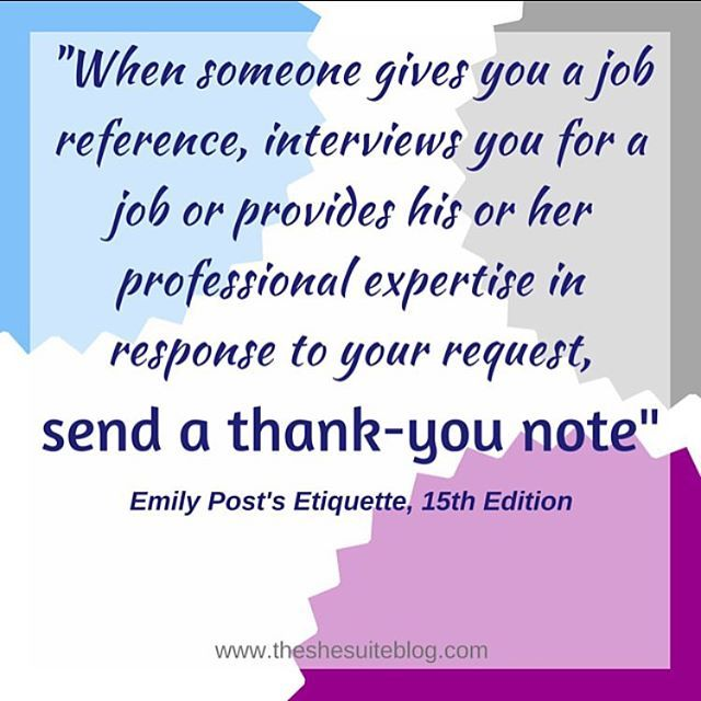 How to write professional thank you notes; Emily Post