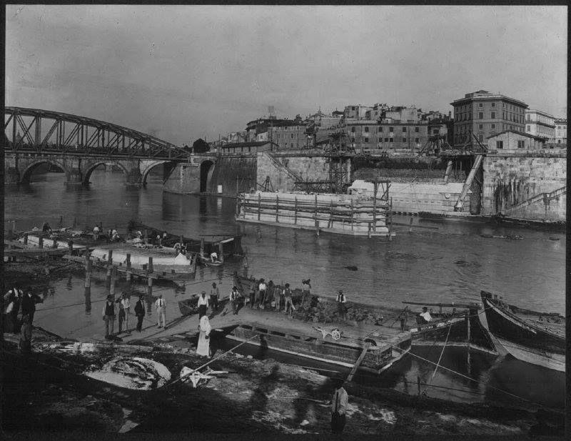 ponte Vittorio in costruzione