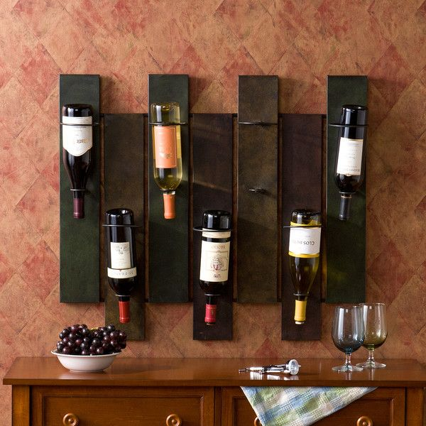 Wildon Home Sutton 7 Bottle Wall Mounted Wine Rack Wine Rack Design Wine Rack Wooden Wine Rack