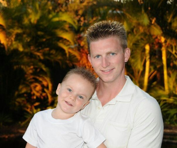 Pacey shon maui hawaii beach sunset palm tree photography father son