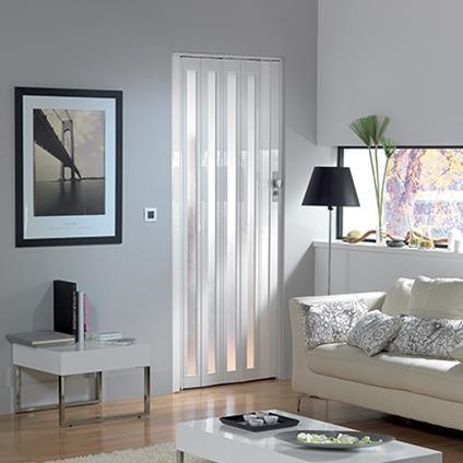 porte accord on vitr e grosfillex 39 larya 39 pvc blanc 205 x 84 cm plan it id es salle de bain. Black Bedroom Furniture Sets. Home Design Ideas