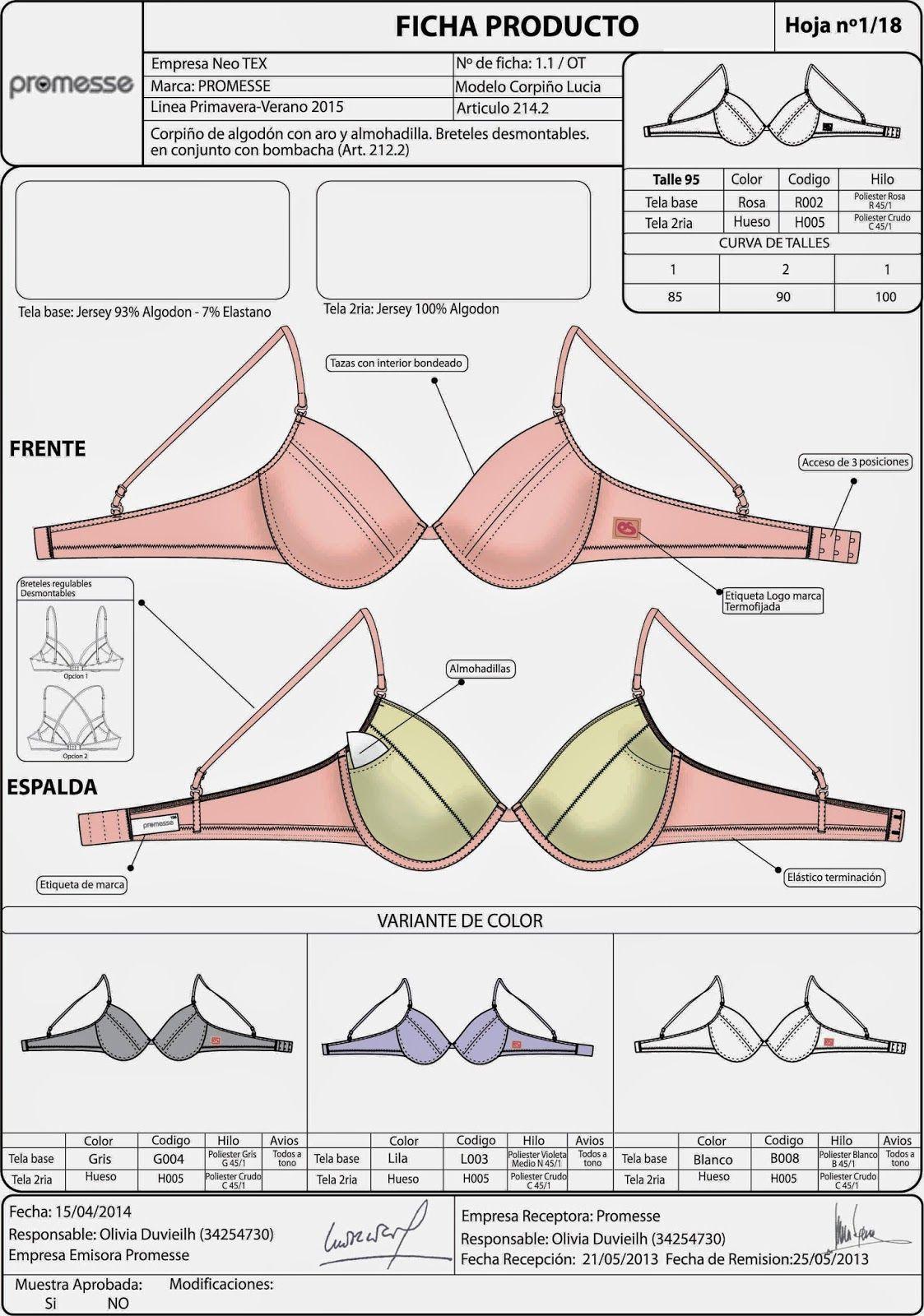 Resultado de imagen para patrones costura brasier