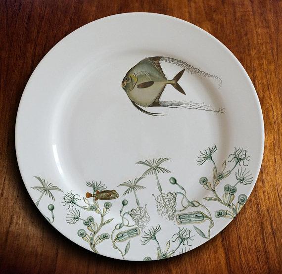 Plato De Porcelana Fishy Fish Angelique Cena Di Pesce Pesce Angelo Articoli Da Cucina