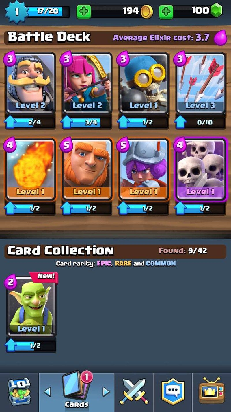 clash royale hack all cards android