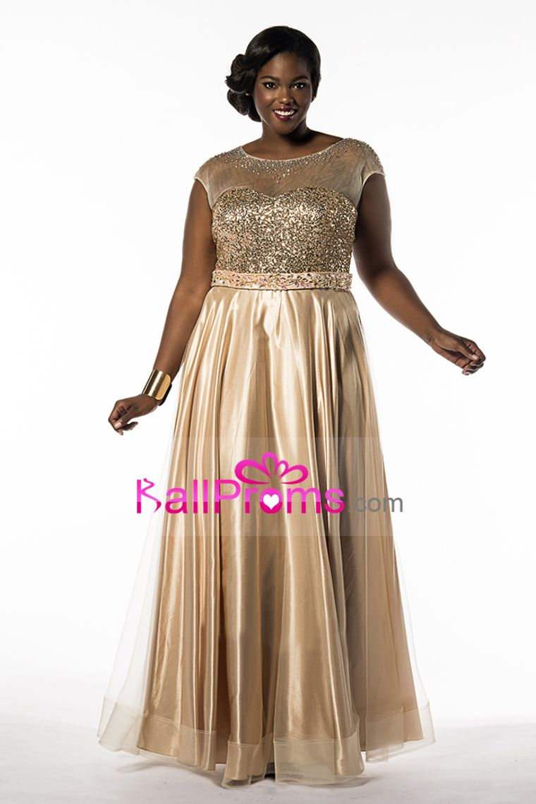 86006d5bf7a 2015 Prom Dresses Scoop A Line Tulle With Beading · Plus Size ...