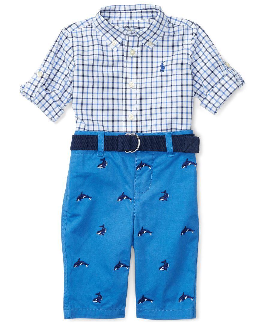 dabb9ef94 Ralph Lauren Poplin Shirt   Twill Pants Set