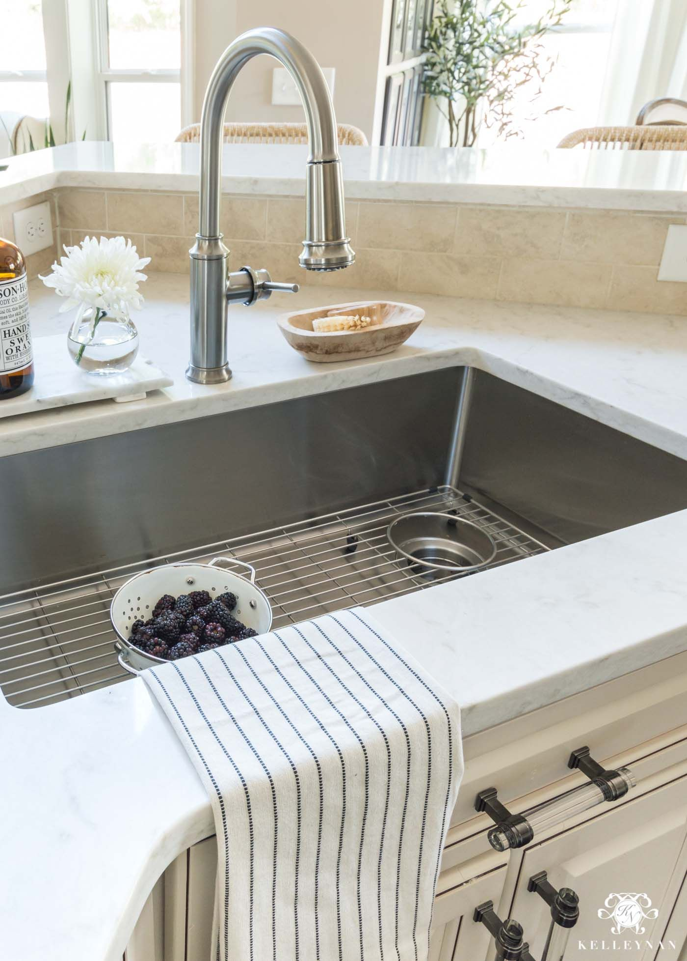 Update And Make A Traditional Cream Kitchen More Modern On A Budget Kitchen Sink Remodel Undermount Kitchen Sinks Best Kitchen Sinks