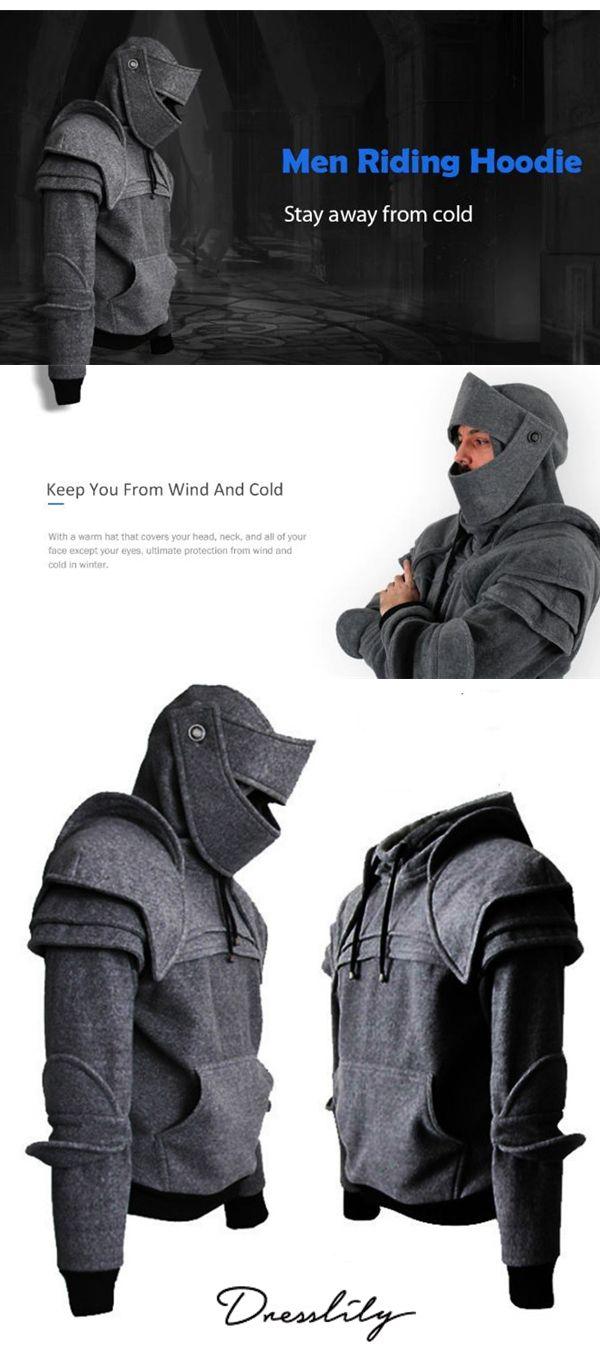 sale retailer c1172 55138 60% OFF.Men s Hoodie Retro Elbows Drawstring Solid Color.  dresslily   hoodies