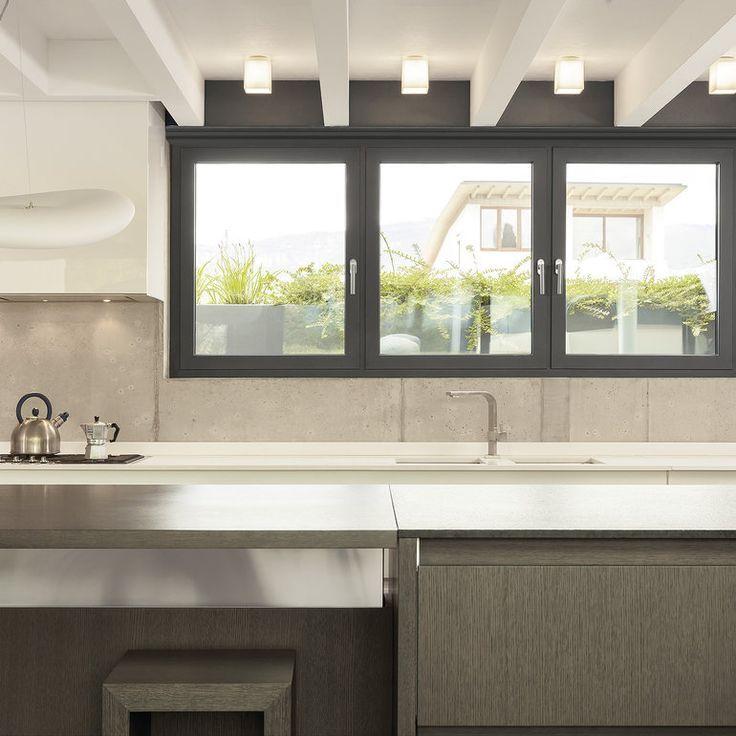 En Cocina Aluminio Gris Windows Kitchen Sliding