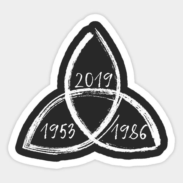 Dark Triquetra White Ii Netflix Sticker Teepublic Brand Stickers Stickers Print Stickers
