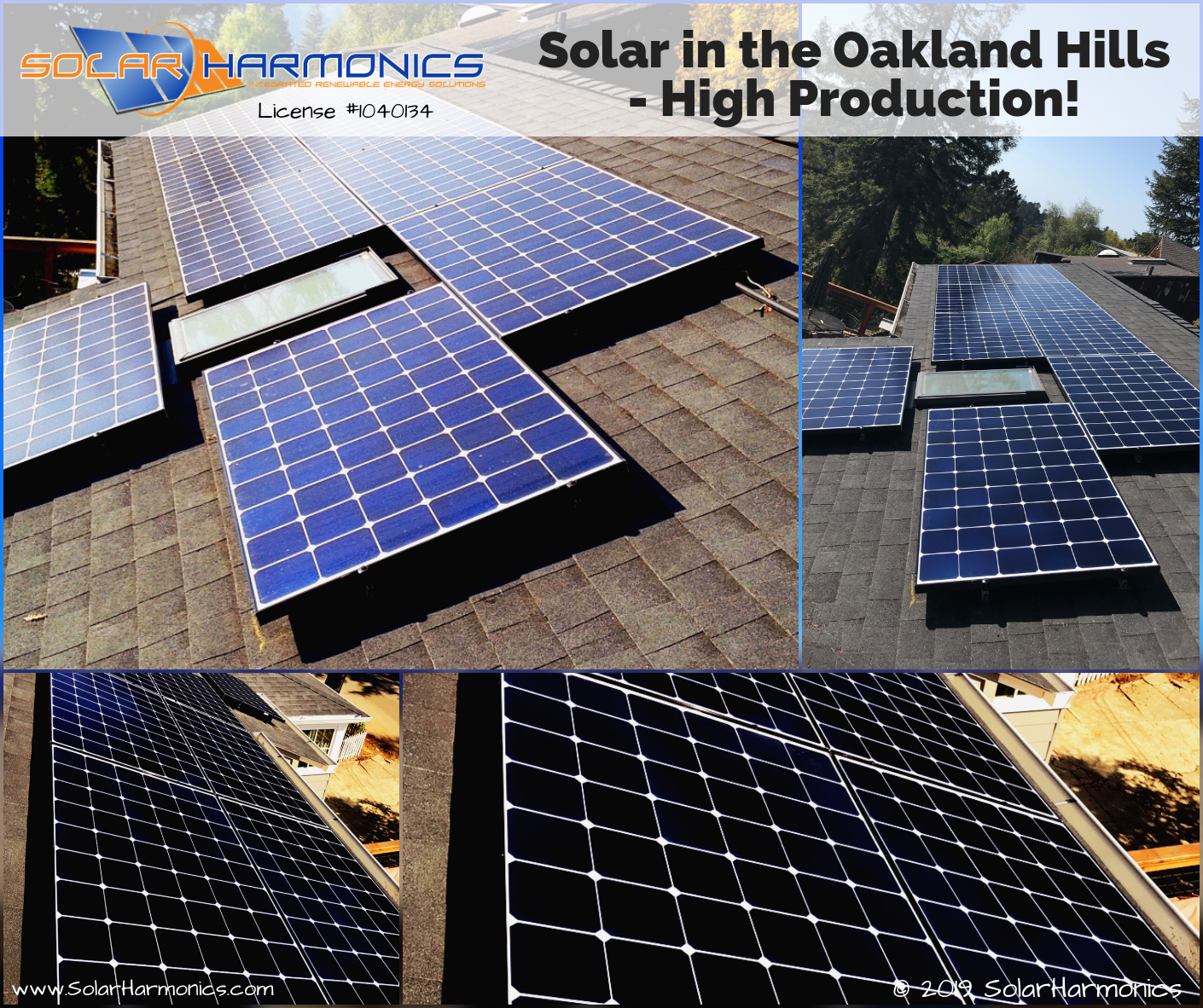 Solar In The Oakland Hills High Production Solaredge Technologies Inc Lgsolarusa Cslb Ca Solige With Images Buy Solar Panels Solar Panels For Home Roof Solar Panel