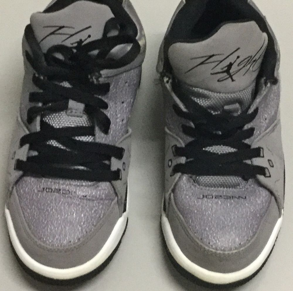 Nike Kids Jordan Sc Low (ps) Basketball Shoes Cement Grey/black Size 12c