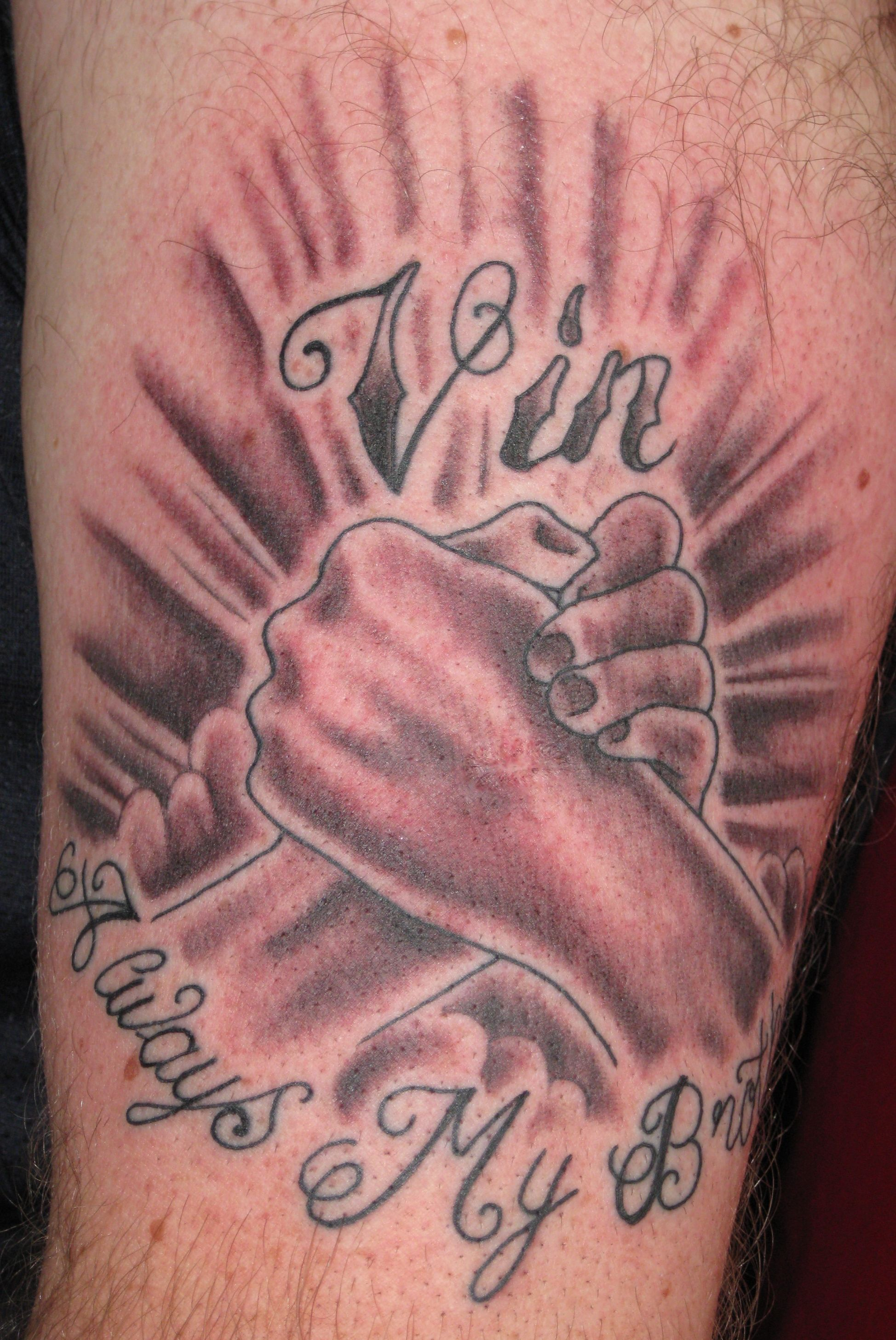 Brother brotherly hogarth liverpool love memorial for Sister memorial tattoos