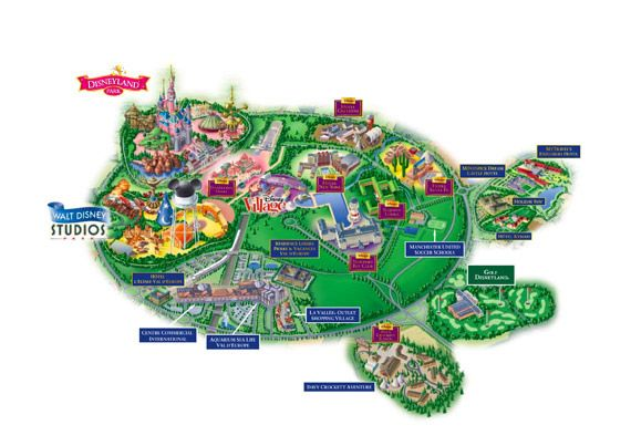 Euro Disney Paris Map Eurodisney Map Eurodisney Map And