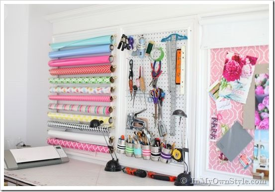 Craft room organization ideas - you must see this space!