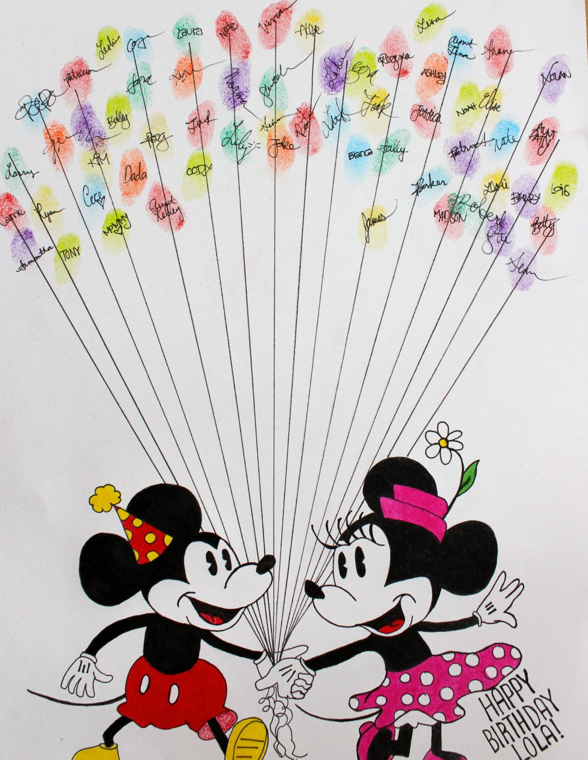c51f3f841 guest book idea- fingerprint balloons with signature Mickey Baby Showers, Minnie  Mouse Baby Shower