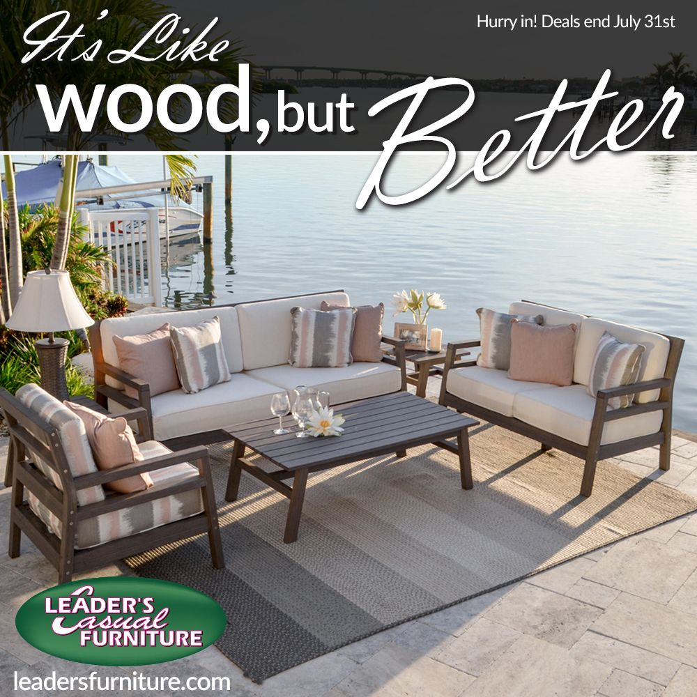 Customizable Durable Stylish Just Like Wood But Better Go Ahead Touch It Focus More On Outdoor Furniture Sets Casual Furniture Outdoor Patio Furniture
