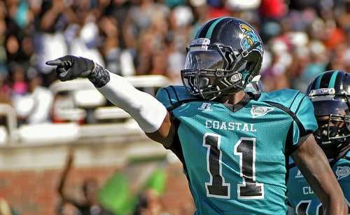 Coastal Carolina Wide Receiver Demario Bennett Football Helmets Football Coastal Carolina