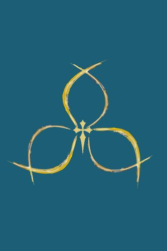 Holy Trinity Symbol The Christian Fish And Trefoil Symbols Used As