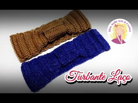 Turbante/Tiara/Headband com Ponto Trança de Crochê - YouTube ...