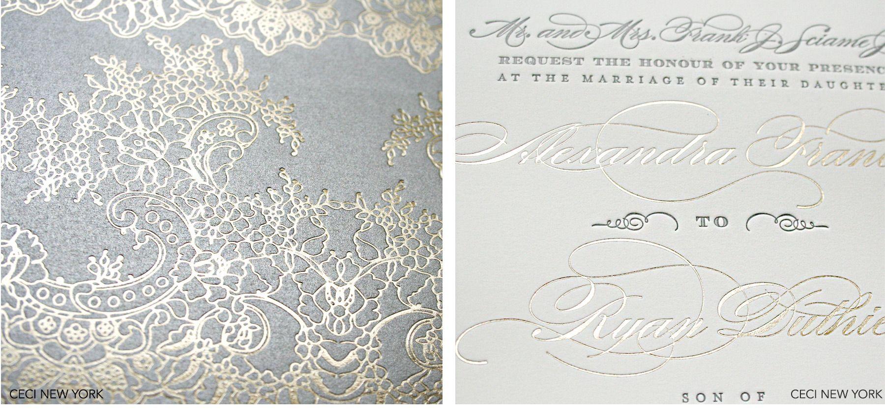 Luxury Wedding Invitations By Ceci New York Urban Elegance Be