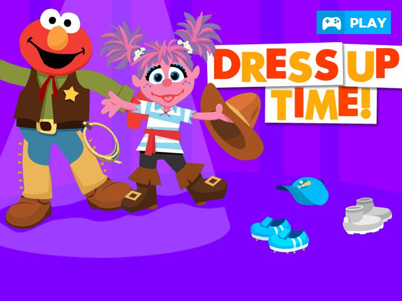 PLAY Dress Up time Preschool games, Sesame street
