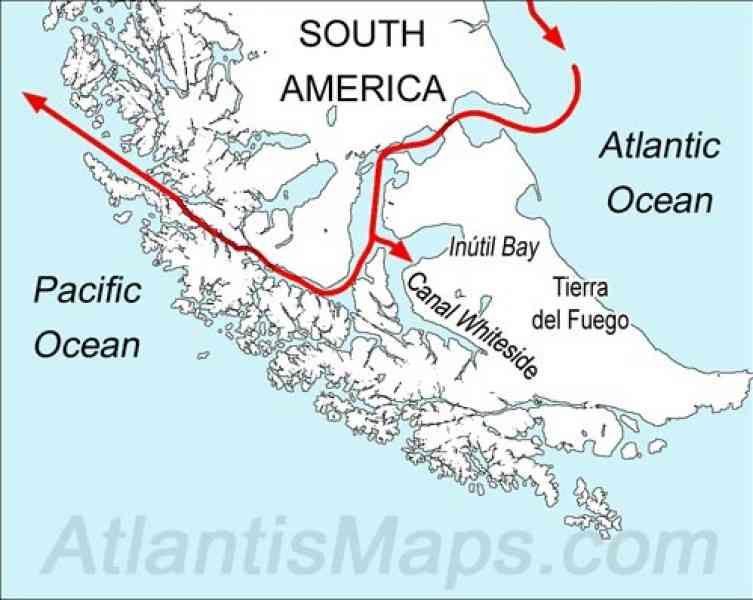strait of magellan south america map Cool Map Of The Strait Of Magellan Strait Of Magellan Magellan