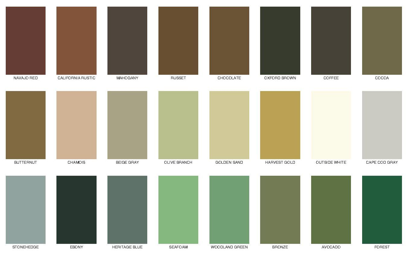 Messmers Decking Stain Solid Color Chart Staining Deck Deck