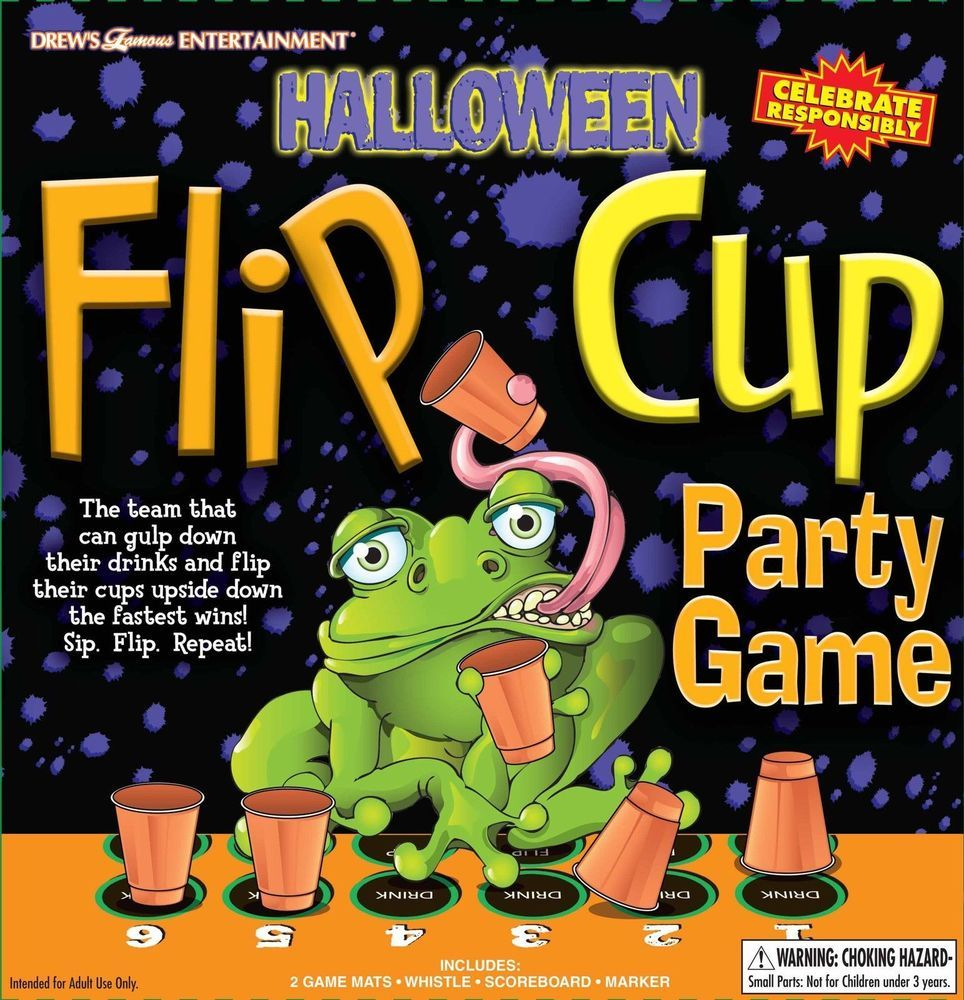 halloween adult drinking party flip cup game by drews famous entertainment tutmentertainment halloween